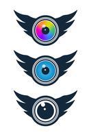 Vision et icônes médiatiques vecteur
