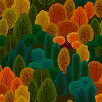 Modèle sans couture avec forêt d'automne