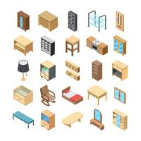 Pack intérieur d'icônes vectorielles intérieur maison