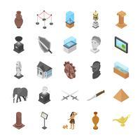 Objets d'icônes du musée vecteur