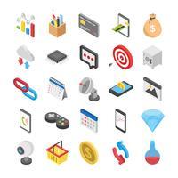 Paiement et Web Icons Set vecteur