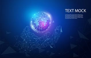 Lien technologique numérique abstrait vecteur