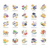Lot d'icônes de livraison logistique