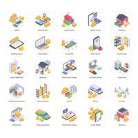 Pack d'icônes de livraison logistique vecteur