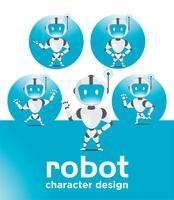 conception de la mascotte robot vecteur