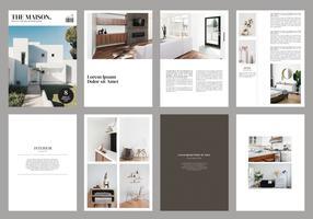 Modèle de magazine de brochures intérieures vecteur