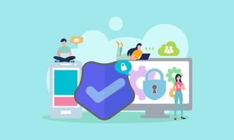 système de protection des données vecteur