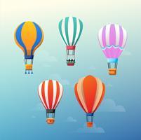 Ballons à air chaud colorés vecteur