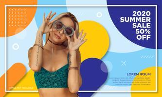 Bannière des soldes d'été