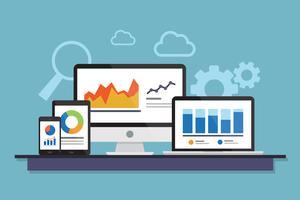 Analyse commerciale des données vecteur