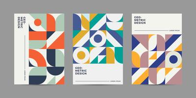 Design de couverture rétro vecteur