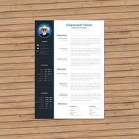 CV bleu minimal vecteur