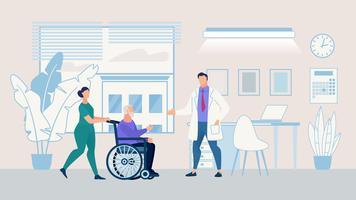 Affiche d'information Nursing Home vecteur