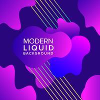 Design de fond de couleur pourpre liquide avec composition de formes à la mode vecteur
