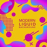 Design de fond de couleur rétro avec composition de formes à la mode vecteur