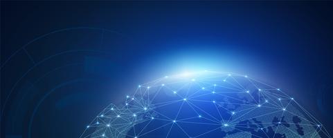 Concept de connexion globale vecteur