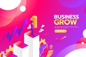 Concept de croissance d'entreprise