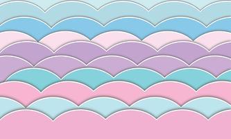 Motif d'onde en papier découpé vecteur