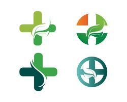 Eco, feuille, sportif, équilibre, corps, marque, soins, club, créatif, vecteur