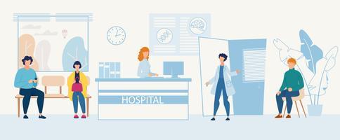 Circulaire publicitaire Service d'admission à l'hôpital vecteur