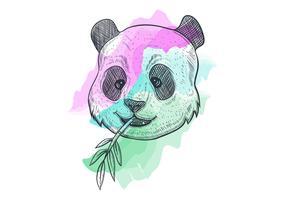 panda mangeant du bambou vecteur