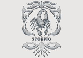 signe du zodiaque vintage scorpion vecteur