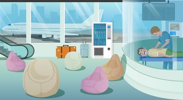 Services de salle d'attente à l'aéroport