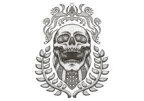 Crâne portant le bandana du drapeau américain vecteur