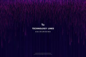 Motif de lignes de technologie rose violet abstraite vecteur