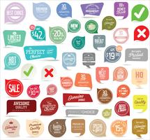 Collection de stickers, étiquettes badges modernes