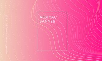 abstrait avec bannière d'ombre rose. vecteur