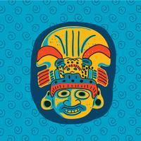 Masque de tribu mexicaine vecteur
