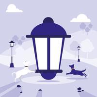 lampe de parc vecteur