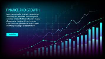 Financier et croissance vecteur