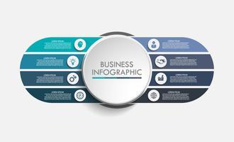 Infographie de données commerciales vecteur