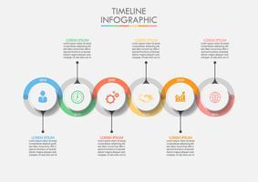 Modèle infographique de l'entreprise. vecteur