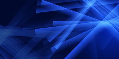 Conception de bannière bleue abstraite vecteur