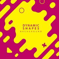 formes abstraites plates et dynamiques vecteur