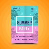 Affiche colorée de la fête de l'été
