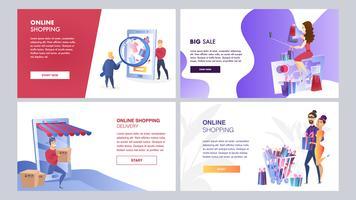 Set de marketing en ligne vecteur