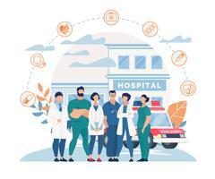 Affiche du personnel de l'hôpital