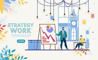 Modèle de site Web d'analyse de données d'entreprise vecteur