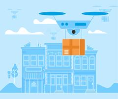 Drone numérique drop off