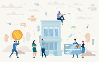 Financement des petites entreprises vecteur