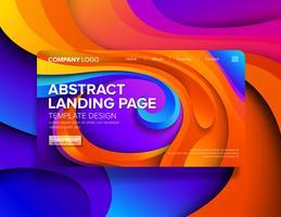 Conception de modèle de page d'atterrissage