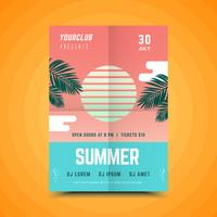 Fête d'été affiche géométrique