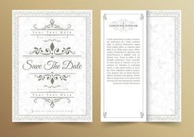 Carte d'invitation vecteur