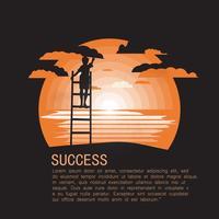 Illustration de réussite vecteur