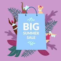 Grande affiche de vente d'été