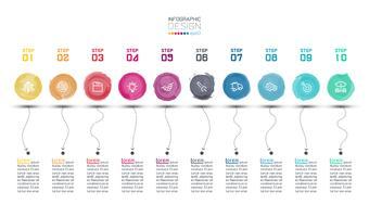 Infographie aquarelle moderne vecteur